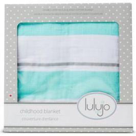Lulujo Детское одеяло Аква полоски Aqua Stripe, 96х96 см. (45301)