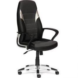 Кресло TetChair INTER кож/зам/ткань, черный/серый/серебро, 36-6/207/3029