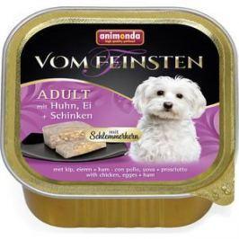 Консервы Animonda Vom Feinsten Adult меню для гурманов с курицей, яйцом и ветчиной для привередливых собак 150г (82646)