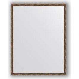 Зеркало в багетной раме поворотное Evoform Definite 68x88 см, витая бронза 26 мм (BY 1032)