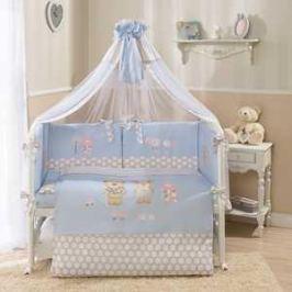 Комплект в кроватку 4 предмета Perina Венеция голубой В4-02.4