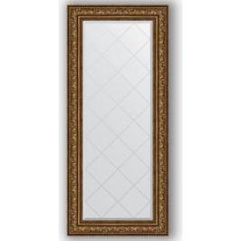 Зеркало с гравировкой поворотное Evoform Exclusive-G 70x160 см, в багетной раме - виньетка состаренная бронза 109 мм (BY 4169)