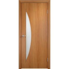 Дверь VERDA Тип С-6(о) остекленная 2000х350 МДФ финиш-пленка Миланский орех