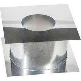 Потолочно-проходной узел Феникс диаметр 110 мм (0.5 нерж.мат./0.5 оцинк.)(365х365 мм)(00862)