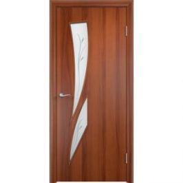Дверь VERDA Тип С-2(Ф) остекленная 1900х600 МДФ финиш-пленка Итальянский орех