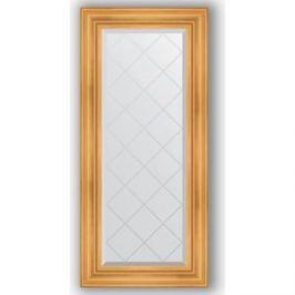 Зеркало с гравировкой поворотное Evoform Exclusive-G 59x128 см, в багетной раме - травленое золото 99 мм (BY 4073)
