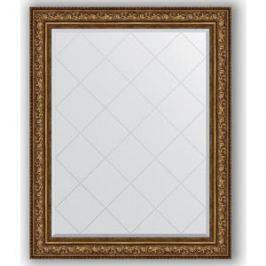 Зеркало с гравировкой поворотное Evoform Exclusive-G 100x125 см, в багетной раме - виньетка состаренная бронза 109 мм (BY 4384)
