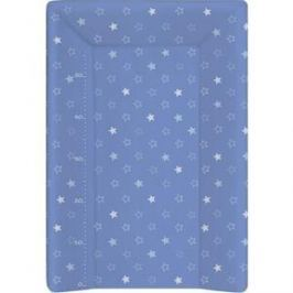 Матрас пеленальный Ceba Baby (Себа Беби) 70 см с изголовьем на кровать 120*60 см Stars dark blue W-201-066-162