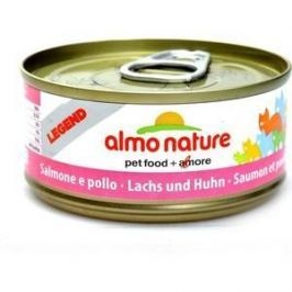 Консервы Almo Nature Ledend Adult Cat with Salmon and Chicken с лососем и курицей для кошек 70г (7657)