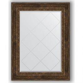 Зеркало с гравировкой поворотное Evoform Exclusive-G 82x110 см, в багетной раме - состаренное дерево с орнаментом 120 мм (BY 4215)