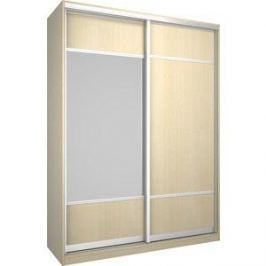Шкаф Премьер Бостон 1600 Дуб кремона песочный ДСП+Зеркало