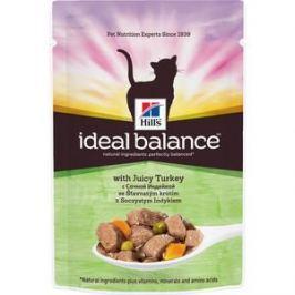 Паучи Hill's Ideal Balance with Juicy Turkey с сочной индейкой и овощами для кошек 82г (10024)