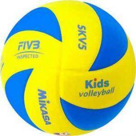 Мяч волейбольный Mikasa SKV5, размер 5, цвет желт-голуб
