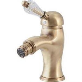 Смеситель Cezares Vintage для биде c донным клапаном, бронза, ручки Swarovski (Vintage-BSM1-02-Sw)
