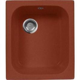 Кухонная мойка AquaGranitEx M-17 420х485 красный марс (M-17 (334))