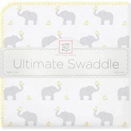Фланелевая пеленка SwaddleDesigns для новорожденного PY Elephants/Chicks (SD-460PY)