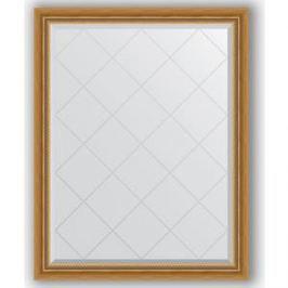 Зеркало с гравировкой поворотное Evoform Exclusive-G 93x118 см, в багетной раме - состаренное золото с плетением 70 мм (BY 4346)