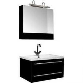 Комплект мебели Aquanet Нота 75 цвет черный глянец
