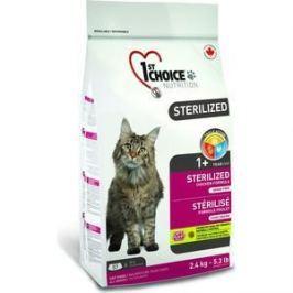 Сухой корм 1-ST CHOICE Sterilized Cat Grain Free Chicken Formula беззерновой с курицей и бататом для стерилизованных кошек 5кг (102.1.282)