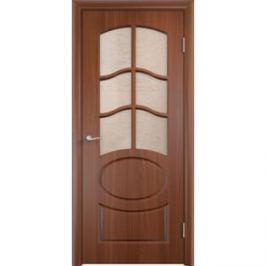 Дверь VERDA Неаполь 2 остекленная 1900х600 ПВХ Итальянский орех