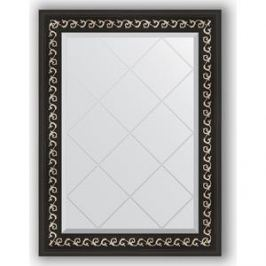 Зеркало с гравировкой поворотное Evoform Exclusive-G 65x87 см, в багетной раме - черный ардеко 81 мм (BY 4096)