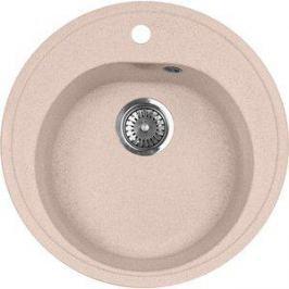 Кухонная мойка AquaGranitEx M-08 505х505 розовый (M-08 (315))