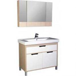 Комплект мебели Aquanet Гретта 100 №1 цвет св дуб (фасад белый)