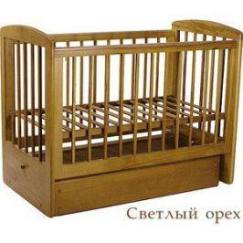 Кроватка Кубаньлесстрой Ромашка поперечный маятник/ящик (светлый орех) АБ 16.2