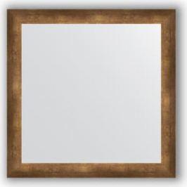 Зеркало в багетной раме Evoform Definite 76x76 см, состаренная бронза 66 мм (BY 1030)