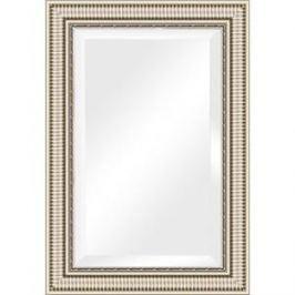 Зеркало с фацетом в багетной раме поворотное Evoform Exclusive 67x97 см, серебряный акведук 93 мм (BY 1278)