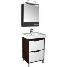 Комплект мебели Aquanet Гретта 60 №3 цвет венге (фасад белый)