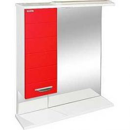 Зеркальный шкаф Меркана таис 60 см шкаф слева свет красный каннелюр (16287)
