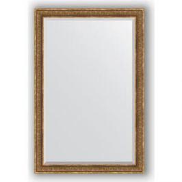 Зеркало с фацетом в багетной раме поворотное Evoform Exclusive 119x179 см, вензель бронзовый 101 мм (BY 3630)