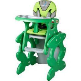 Стульчик для кормления Caretero и столик Primus Green (зеленый)