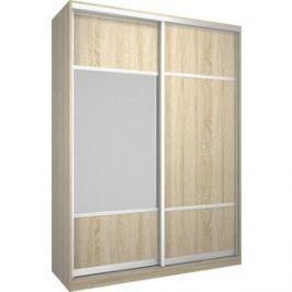 Шкаф Премьер Бостон 1600 Дуб Сонома ДСП+Зеркало