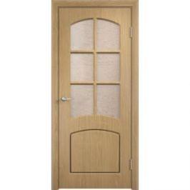 Дверь VERDA Кэрол остекленная 1900х550 ПВХ Дуб