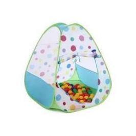 Домик Bony в комплекте с шариками Треугольник большой LI526 Green 85х85х100 100 шаров