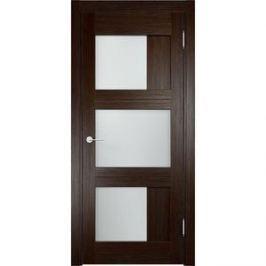 Дверь ELDORF Баден-10 остекленная 2000х800 экошпон Дуб темный