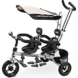 Small Rider Элитный трехколесный велосипед для двойни Platinum ALT, платина (356208/цв 356209)