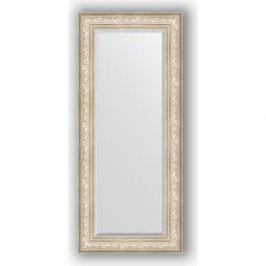 Зеркало с фацетом в багетной раме поворотное Evoform Exclusive 65x150 см, виньетка серебро 109 мм (BY 3556)