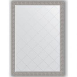 Зеркало с гравировкой поворотное Evoform Exclusive-G 131x186 см, в багетной раме - чеканка серебряная 90 мм (BY 4496)