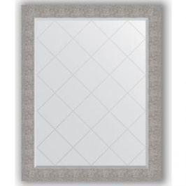 Зеркало с гравировкой поворотное Evoform Exclusive-G 96x121 см, в багетной раме - чеканка серебряная 90 мм (BY 4367)