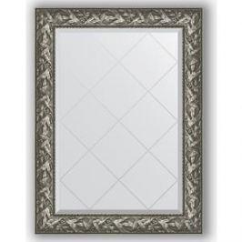 Зеркало с гравировкой поворотное Evoform Exclusive-G 79x106 см, в багетной раме - византия серебро 99 мм (BY 4200)