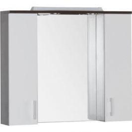 Зеркальный шкаф Aquanet Тиана 90 wenge (фасад белый) (172399)
