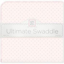 Фланелевая пеленка SwaddleDesigns для новорожденного Pink w/Pink Dot (SD-048PP)