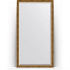 Зеркало напольное с фацетом поворотное Evoform Exclusive Floor 108x198 см, в багетной раме - состаренная бронза с плетением 70 мм (BY 6143)