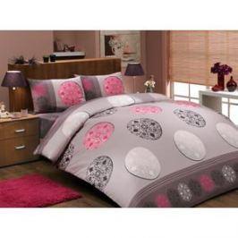 Комплект постельного белья Hobby home collection 1,5 сп, ранфорс, Valentina , розовый (1501000278)