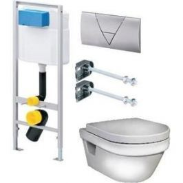Комплект Gustavsberg Viega с унитазом Gustavsberg Hygienic Flush WWS безободковый с сиденьем микролифт