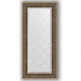 Зеркало с гравировкой поворотное Evoform Exclusive-G 59x129 см, в багетной раме - вензель серебряный 101 мм (BY 4078)