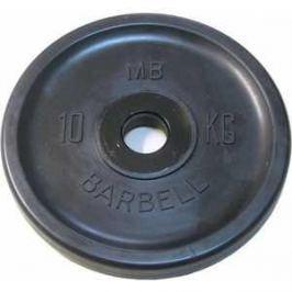 Диск обрезиненный MB Barbell 51 мм 10 кг черный